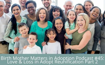 Birth Mother Matters in Adoption Episode #45 – Love & Loss in Adoption Reunification, Part 2