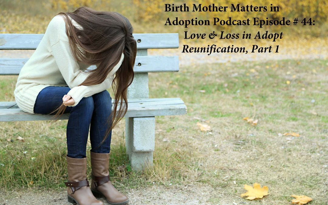 Birth Mother Matters in Adoption Episode #44 – Love & Loss in Adoption Reunification, Part 1